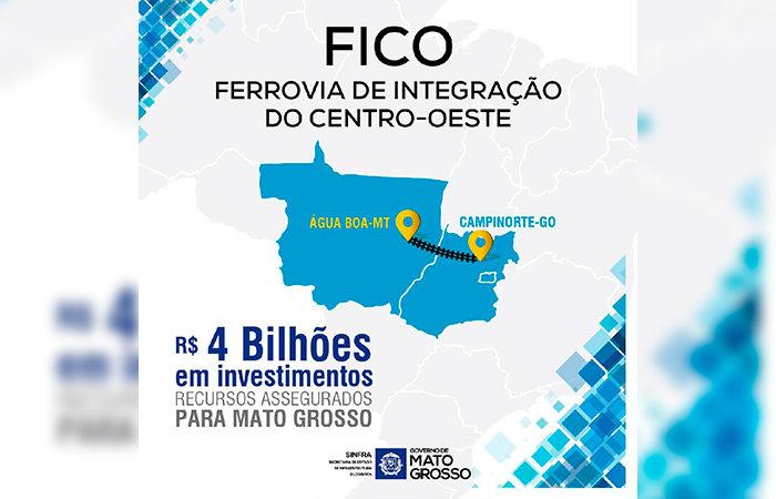 e5ebeb255c3a5 Mato Grosso receberá R  4 bi para construção de 383 km de trilhos