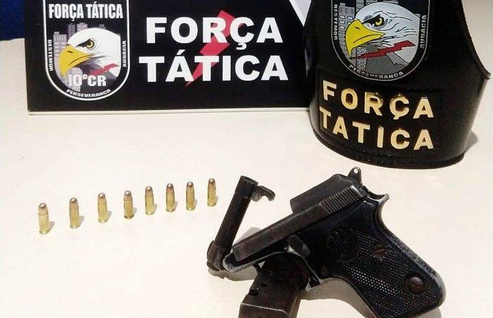 Força Tática retira mais uma arma de fogo de circulação em Vila Rica